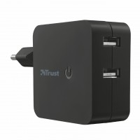 Trust 12W Wall Charger with 2 USB ports - black