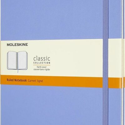 Moleskine Notitieboek XL (19x25 cm) Gelinieerd Harde Kaft Hydrangea Blauw