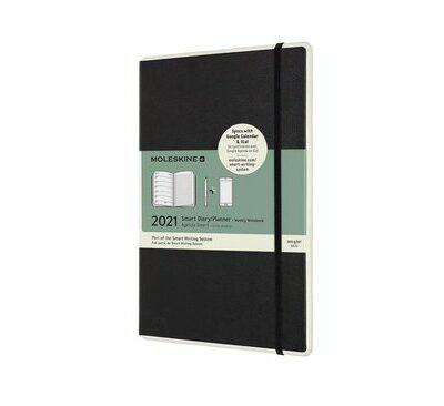 Moleskine 12 Maanden Agenda - 2021 - Paper Tablet Smart Planner - Wekelijks - Large (13x21 cm) - Zwart