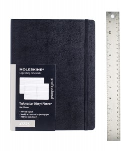 Professional Notebook Large Hard Black