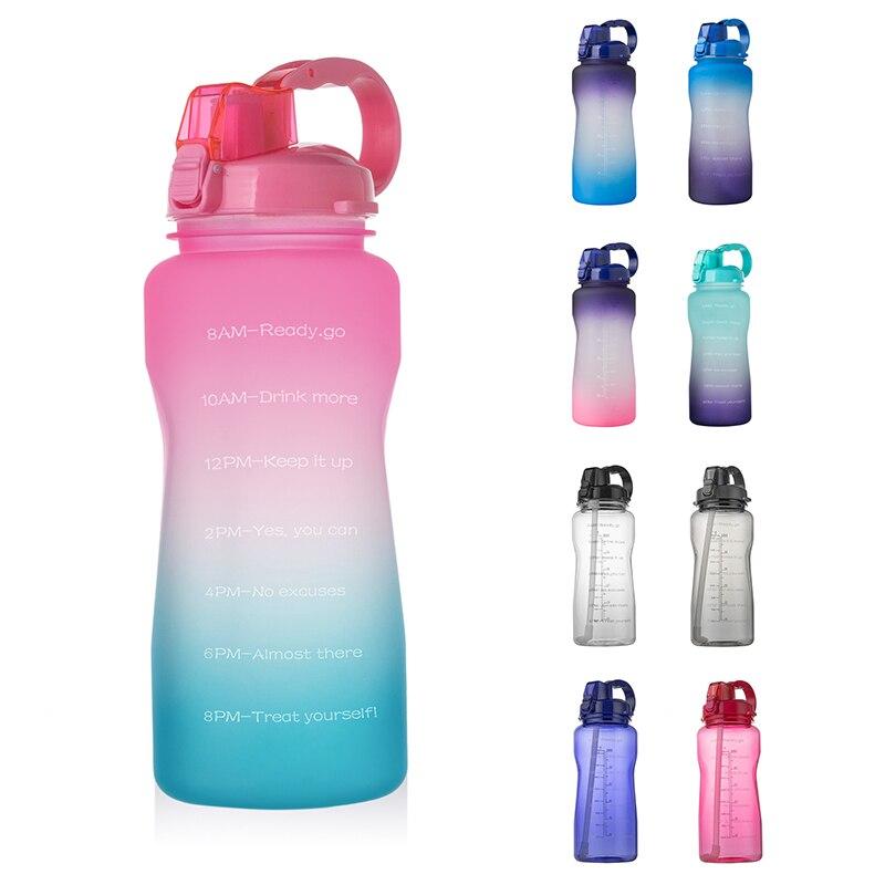 Motivational | Drinkfles | Waterfles | Sportfles | Gallon | 2 Liter Water fles