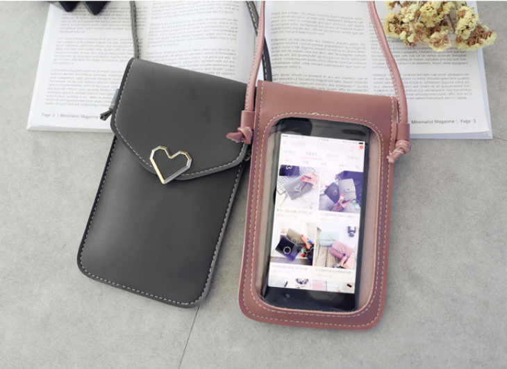 Dames Telefoon Tas met Touchscreen zodat je gewoon je telefoon kunt bedienen!