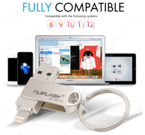 3 in 1 Multi Functionele Flashdrive USB Stick voor iPhone, iPad, iPod -> 16 GB