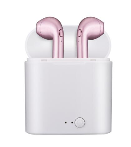 AirPods in ear - rosé pink!